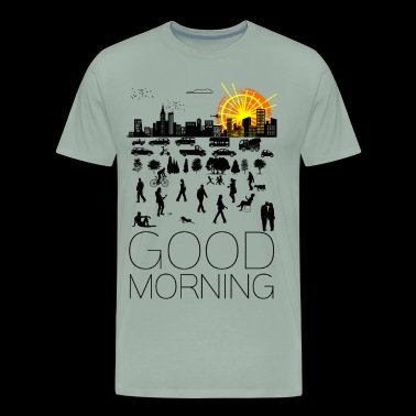 Good Morning, City - Men's Premium T-Shirt