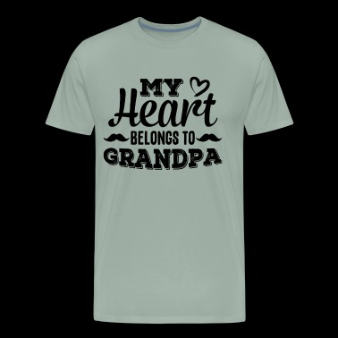 My Heart Belongs To Grandpa Shirt - Men's Premium T-Shirt