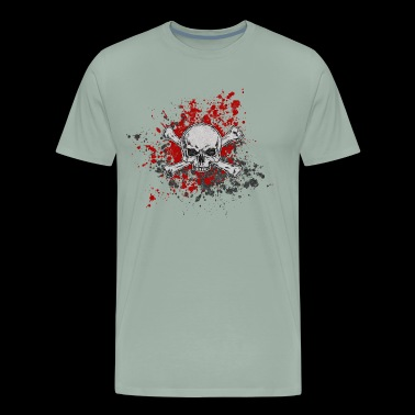 blood stain skull - Men's Premium T-Shirt
