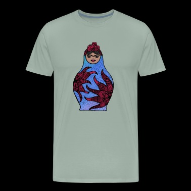 Russian Doll with Frida features - Men's Premium T-Shirt