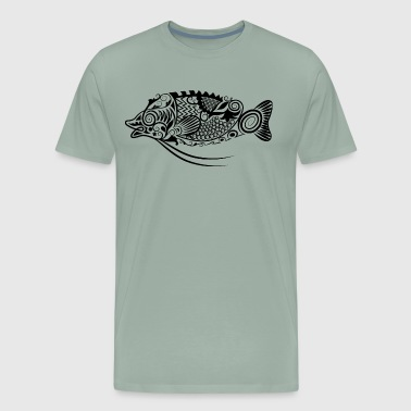 tribal fish design - Men's Premium T-Shirt