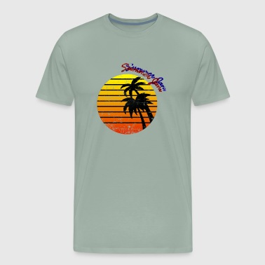 Summer Jam vibes tropical groove beach cocktail - Men's Premium T-Shirt