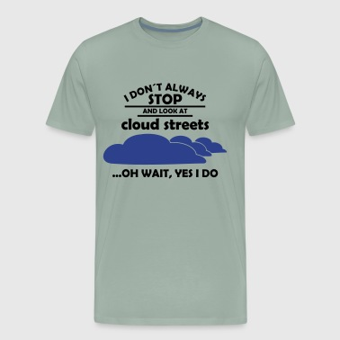 glider pilot cloud streets - Men's Premium T-Shirt