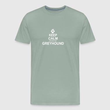 Keep Calm and Walk the Greyhound - Men's Premium T-Shirt