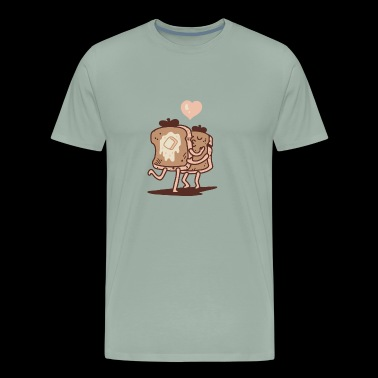 French Toast Kiss - Men's Premium T-Shirt