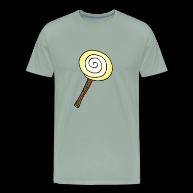 tasty yellow Lollipop , sweet gift idea - Men's Premium T-Shirt