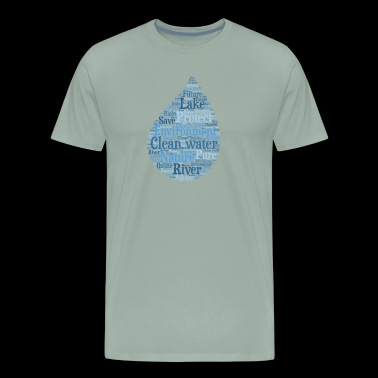 Clean water - word cloud - Men's Premium T-Shirt