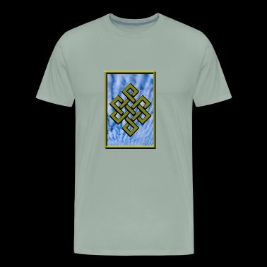 Golden Karma Endless Knot or Eternal Knot Poster - Men's Premium T-Shirt