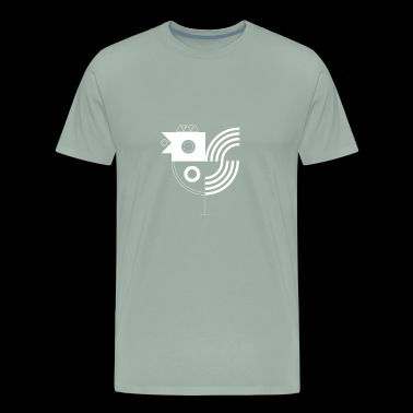 bird sign - Men's Premium T-Shirt