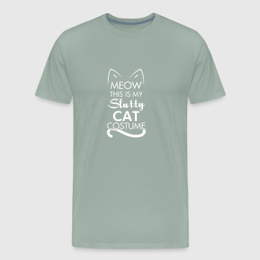 Slutty Sexy Cat Costume funny tshirt - Men's Premium T-Shirt