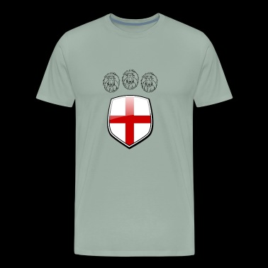 England Shield 3 Lions Soccer - Men's Premium T-Shirt