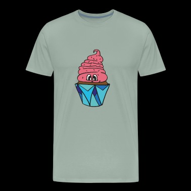 sweet little smiling cupcake, great gift idea - Men's Premium T-Shirt