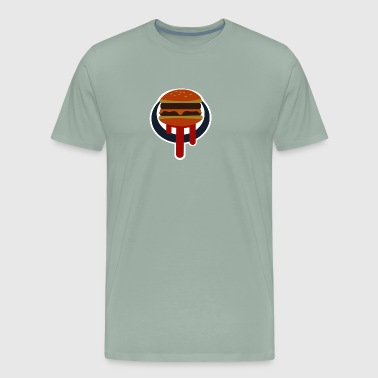 Buger Shot Sign - Men's Premium T-Shirt