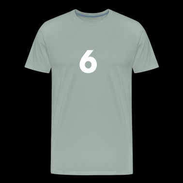 6, Six, Number Six, Number 6 - Men's Premium T-Shirt