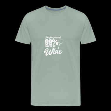 Funny wine T-Shirt - forecast of drinking wine - Men's Premium T-Shirt