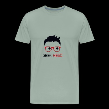 Geek Head funny nerd - Men's Premium T-Shirt