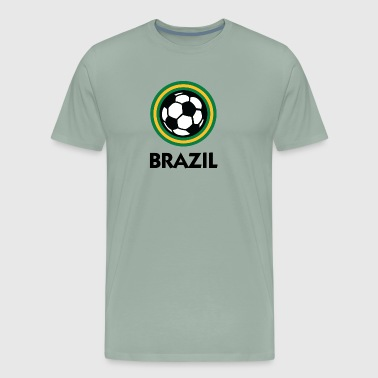 Brazil Football Emblem - Men's Premium T-Shirt