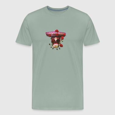Mexican Skull with roses - Men's Premium T-Shirt