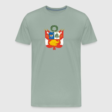 National Coat Of Arms Of Peru - Men's Premium T-Shirt