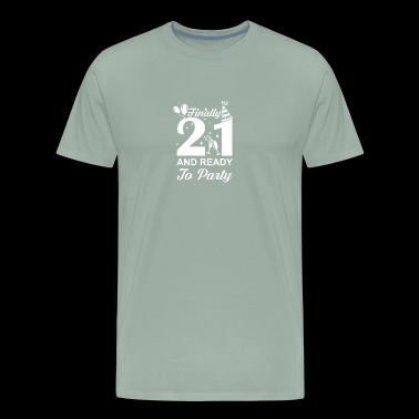 Finally 21 Ready To Party 21 Years Old - Men's Premium T-Shirt