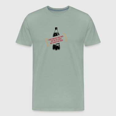 I Tried Sniffing Coke, But I Got Ice Cubes Instead - Men's Premium T-Shirt