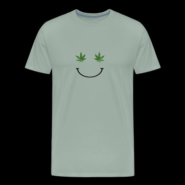 Ganja Smiley Face - Men's Premium T-Shirt