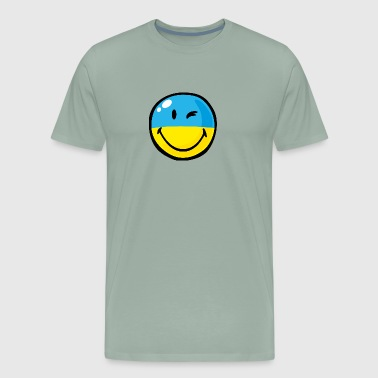 SmileyWorld Ukrainian Flag - Men's Premium T-Shirt