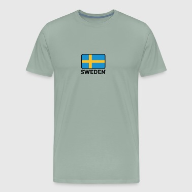 National Flag Of Sweden - Men's Premium T-Shirt