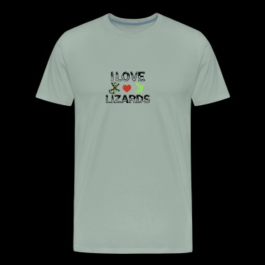 I love lizards - Men's Premium T-Shirt