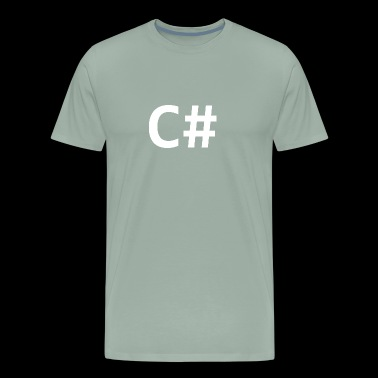 C Sharp (programming language) - Men's Premium T-Shirt