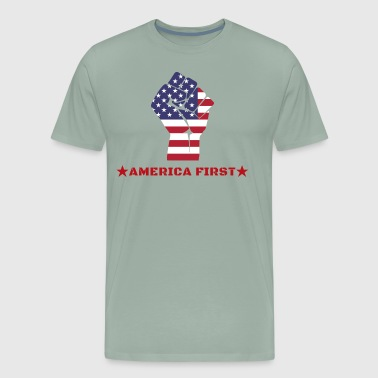 America-First, USA Patriot T-Shirt, MAGA - Men's Premium T-Shirt