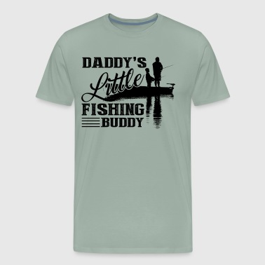 Daddy's Little Fishing Buddy Shirt - Men's Premium T-Shirt