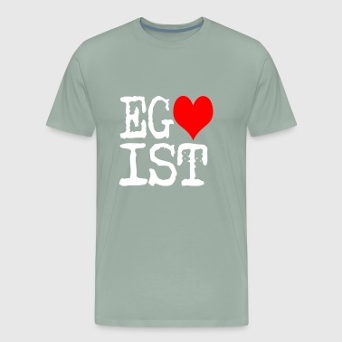 Egoist Red Heart on dark - Men's Premium T-Shirt