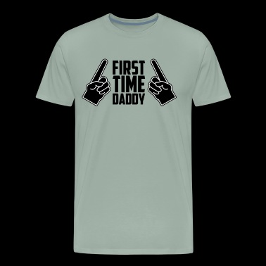 First Time Daddy Shirt New Dad Father's Day - Men's Premium T-Shirt