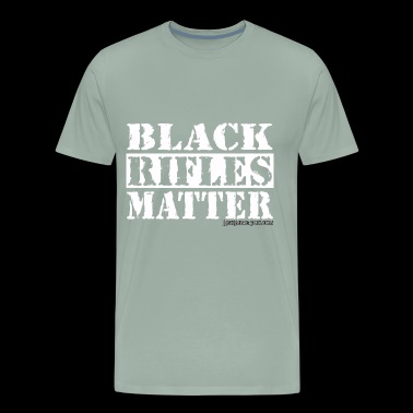 Black Rifles Matter (white) 1 - Men's Premium T-Shirt
