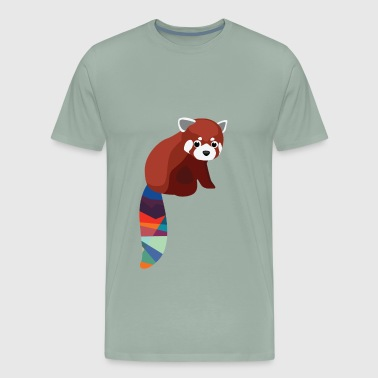 Baby Red Panda with Multicolored Tail - Men's Premium T-Shirt