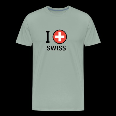 I love Swiss - Men's Premium T-Shirt