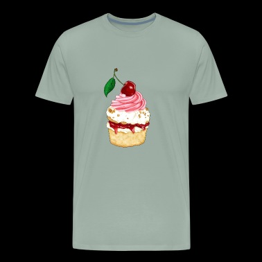 Black-Forest cherry tartlet - Men's Premium T-Shirt