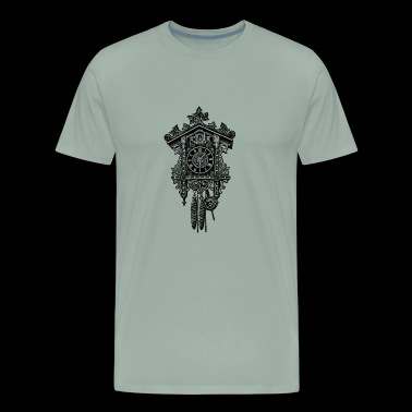 cuckoo clock antique german - Men's Premium T-Shirt
