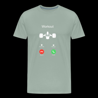 phone call chest workout sports bodybuilding bench - Men's Premium T-Shirt