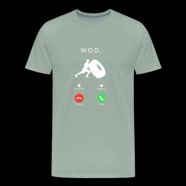 call workout of the day WOD sports training wheel - Men's Premium T-Shirt