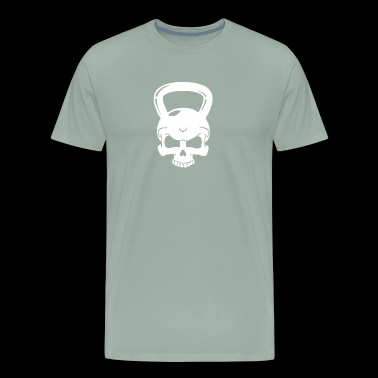 Skull Kettlebell Cross Fit - Men's Premium T-Shirt