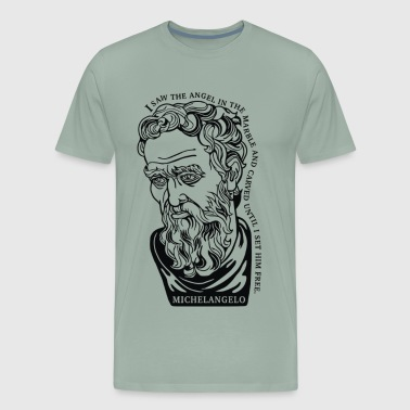 Michelangelo Quote - Men's Premium T-Shirt