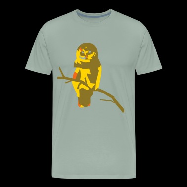 Polygon owl - choose your own 3 colors! - Men's Premium T-Shirt