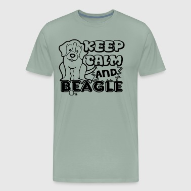 Keep Calm And Beagle Owners Shirt - Men's Premium T-Shirt