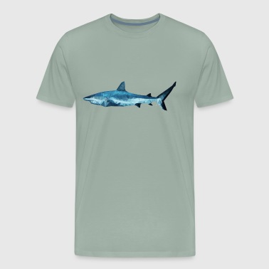 Geometric Shark - Men's Premium T-Shirt