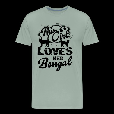 This Girl Love Her Bengal Cat T Shirt - Men's Premium T-Shirt