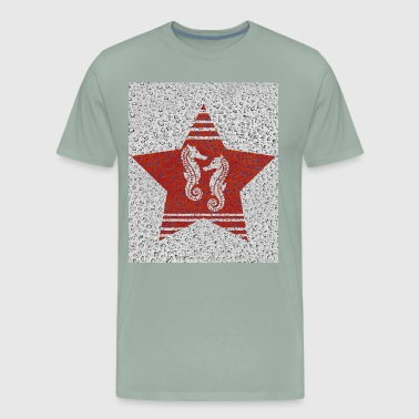 Sea Horse Red Star - Men's Premium T-Shirt