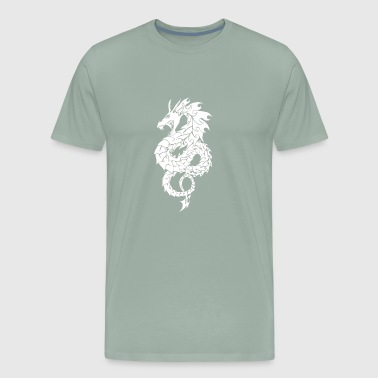 Chinese Dragon White - Men's Premium T-Shirt