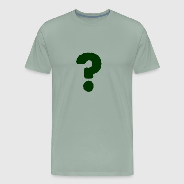 QUESTION MARK GREEN 001 - Men's Premium T-Shirt